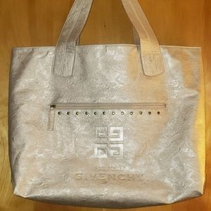 6a8028b7bf96 GIVENCHY PARFUMS gold faux leather tote   shopper